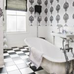 Black and White Wallpaper for Bathrooms
