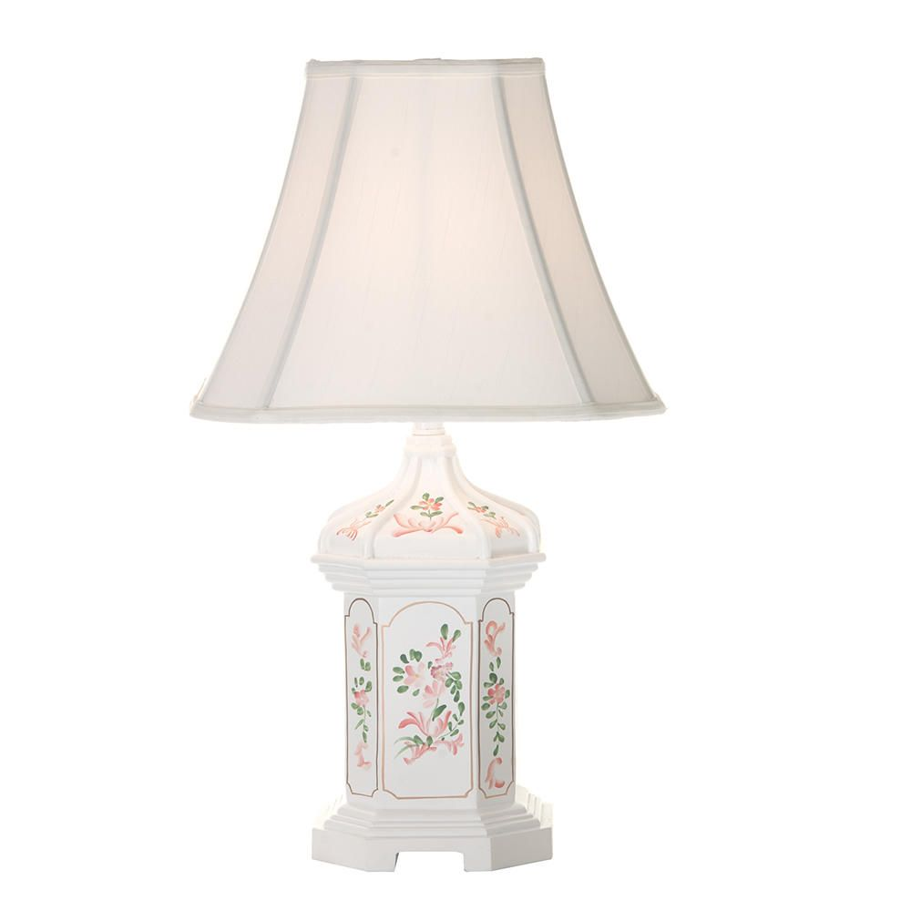 Charming White Flower Table Lamp Design