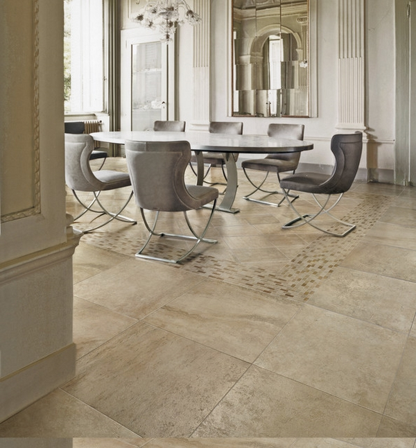 Elaborate Flooring Dining Room