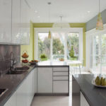 Modern Kitchen with Green Accent