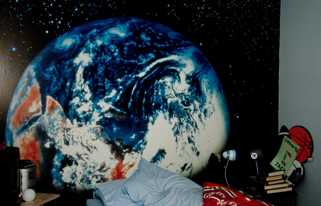Planet Earth Bedroom Wallpaper
