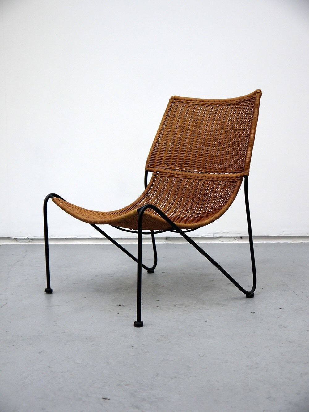 Rattan 50s Lounge Chair