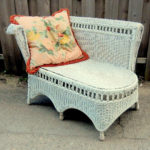 Vintage 1940s Wicker Chaise