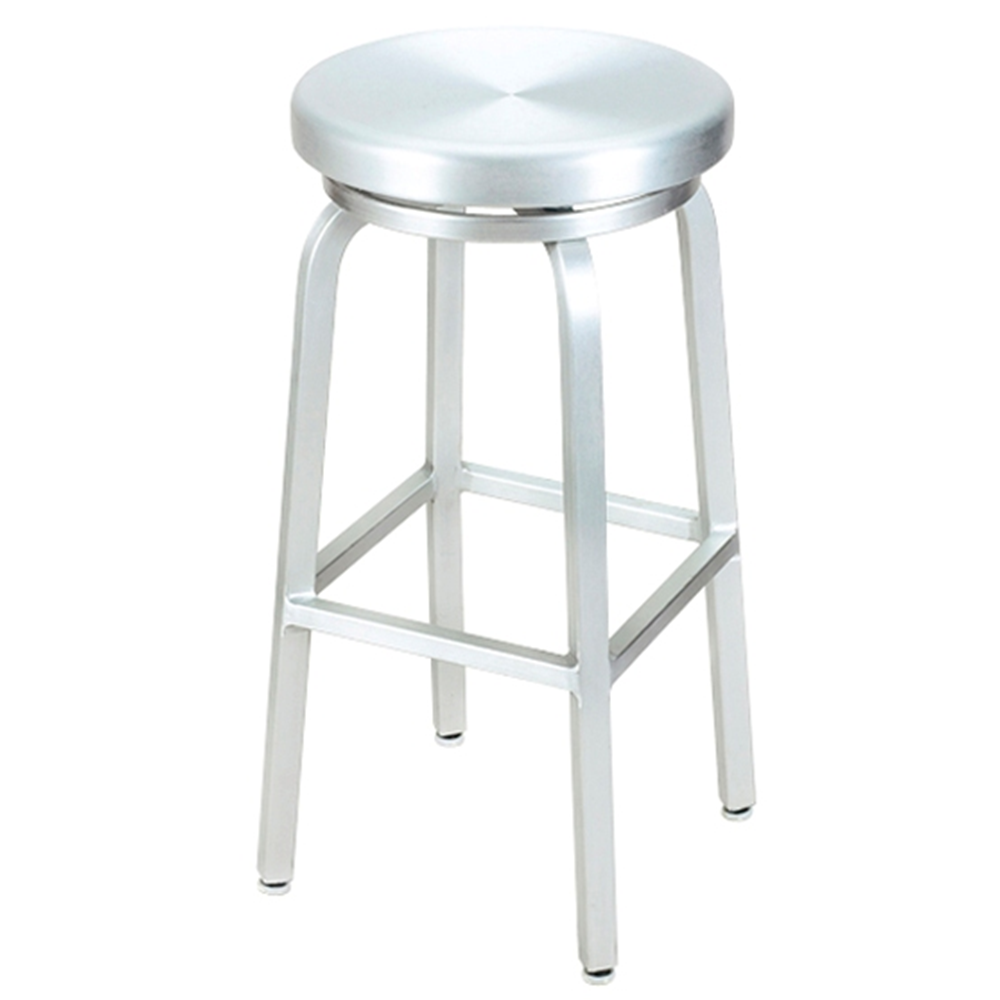 Aluminum bar stools backless