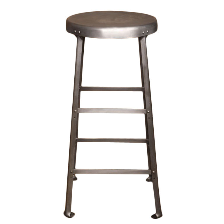 Aluminum bar stools without backs