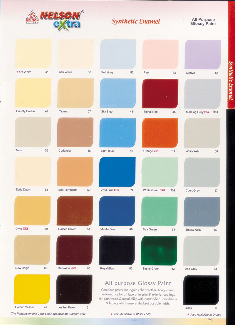 Asian paints apex colour shade card