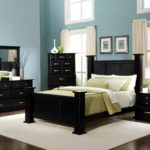 Bedroom black furniture paint colors
