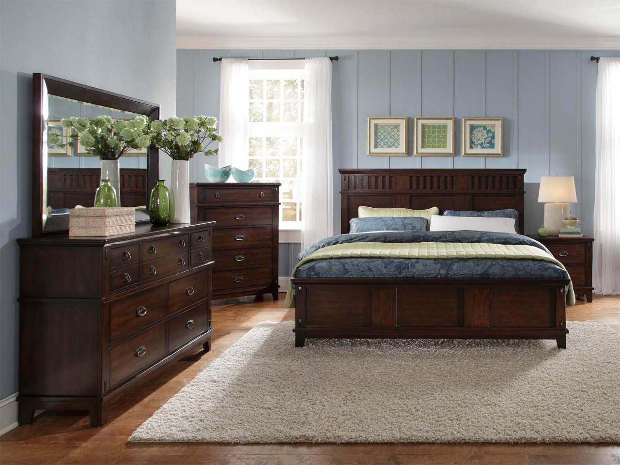 Bedroom designs with brown furniture
