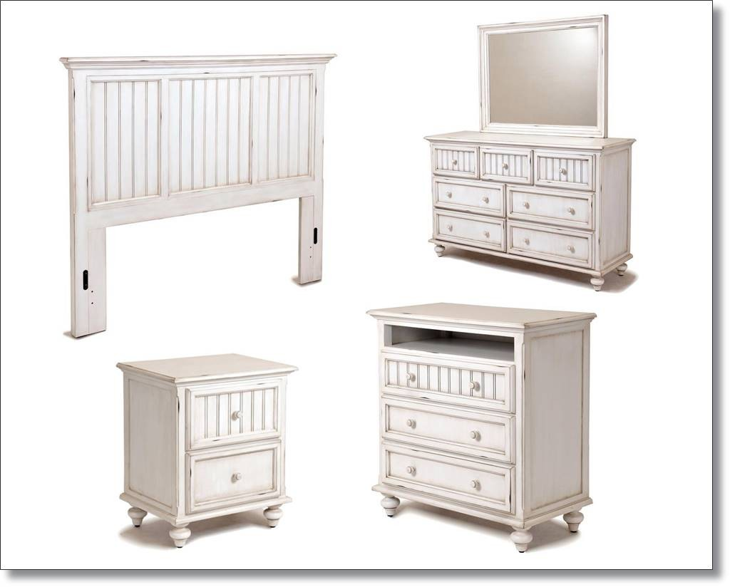 Bedroom furniture white distressed