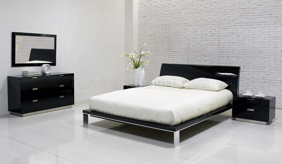 Black designer bedroom furniture