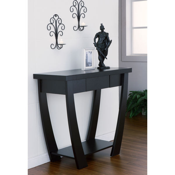 Black finish sofa table
