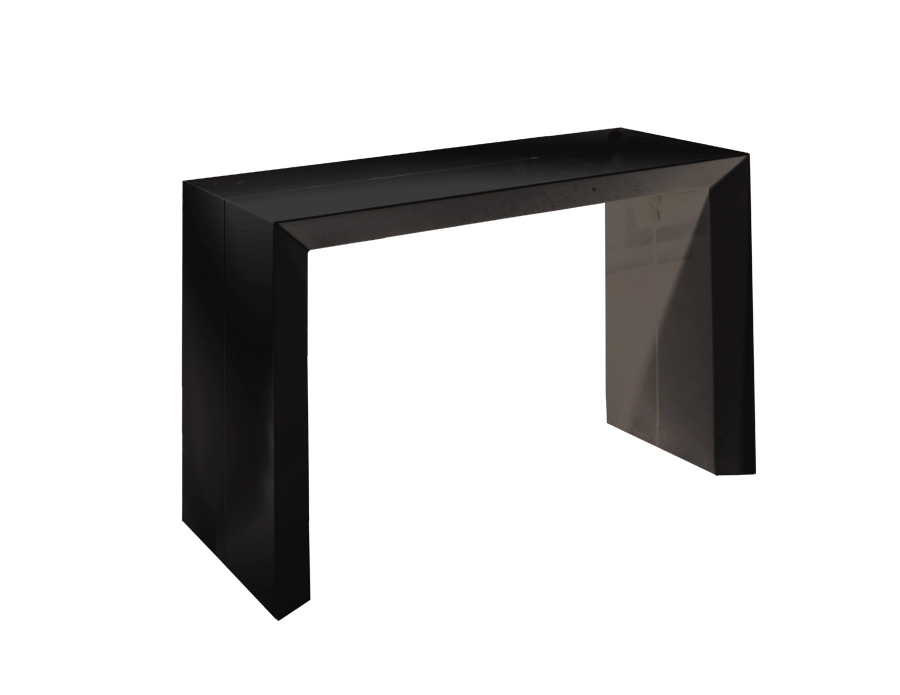 Black gloss sofa table