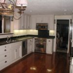 Black kitchen cabinets countertops