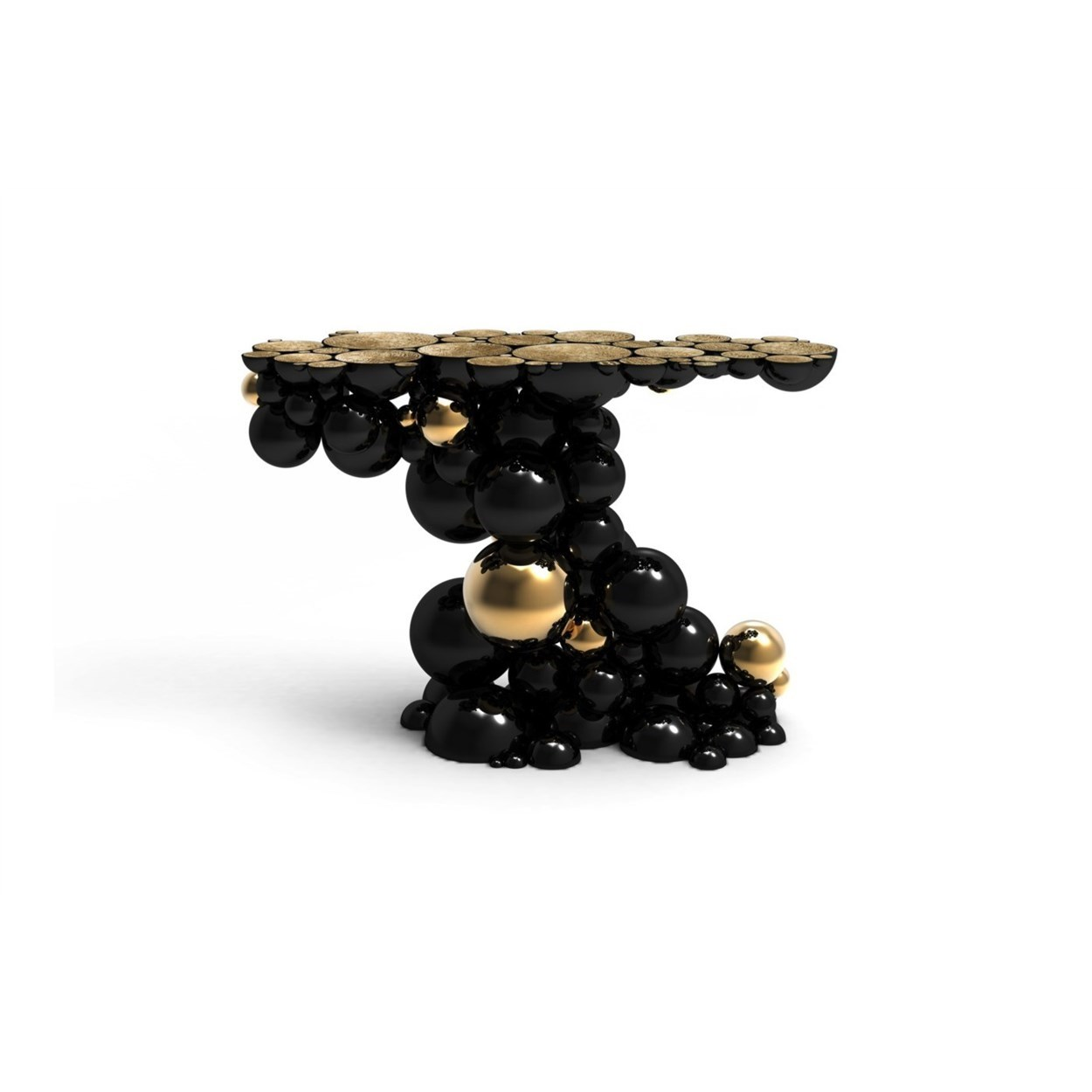 Bubbles black sofa table