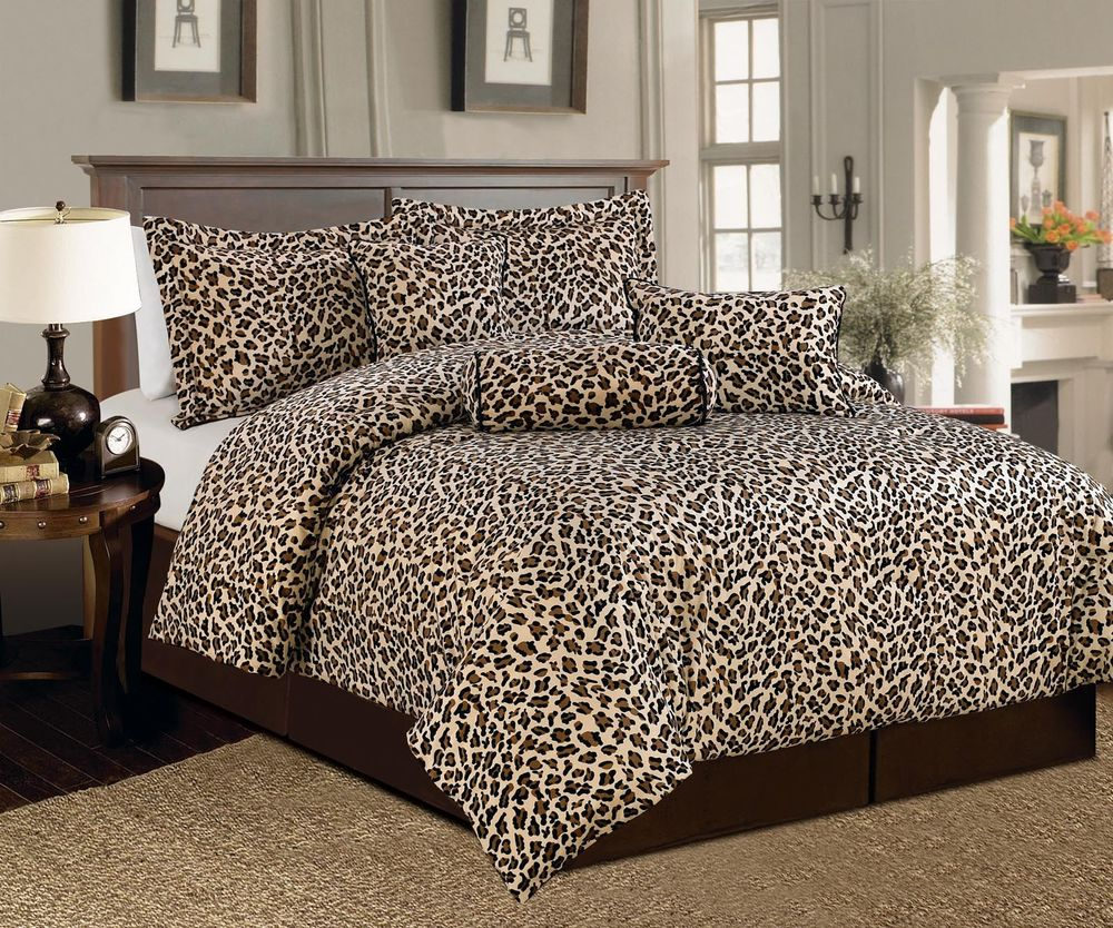 Cheetah print bedroom set