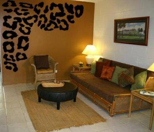 Cheetah print bedroom theme