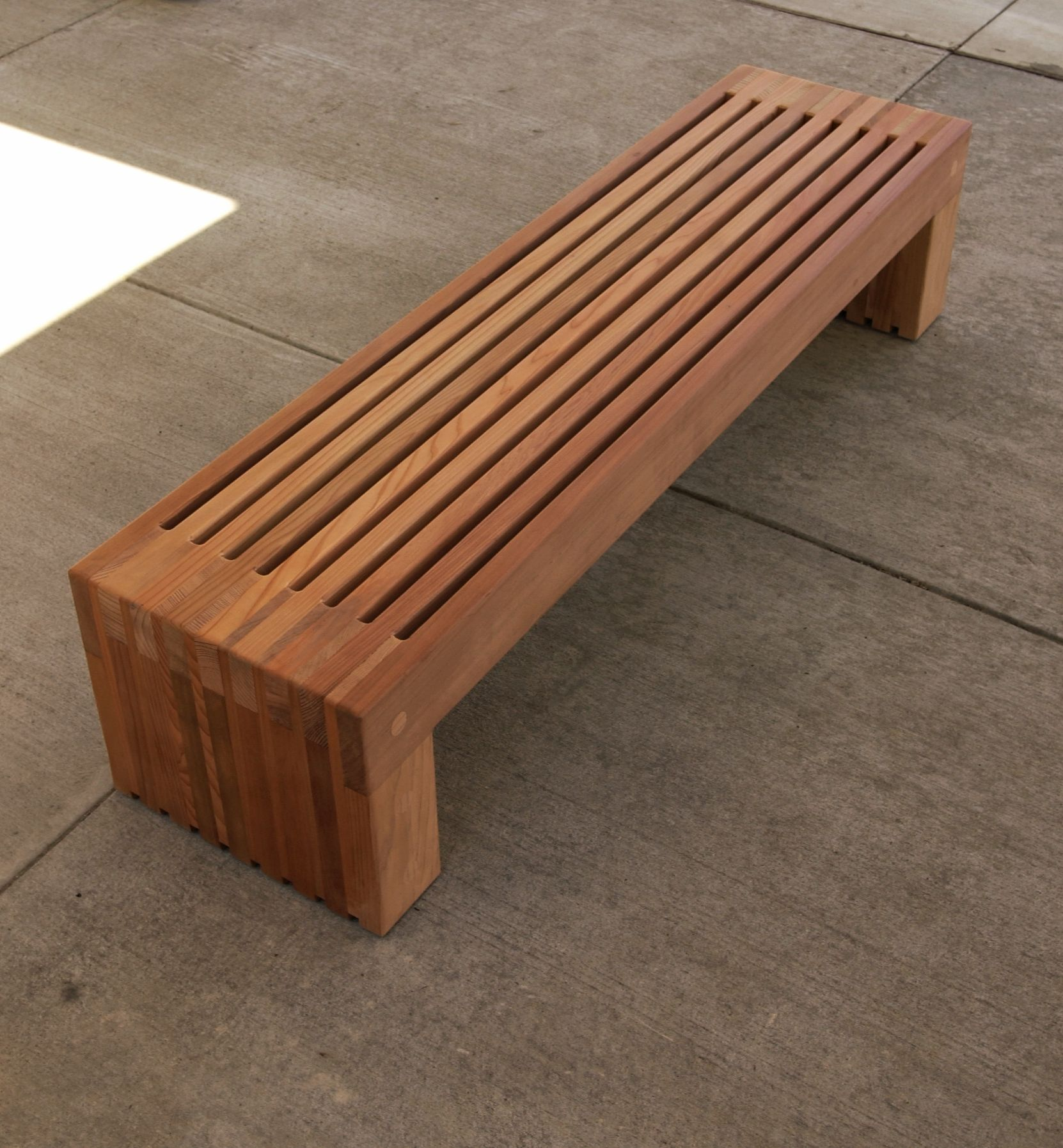 Contemporary garden bench plans