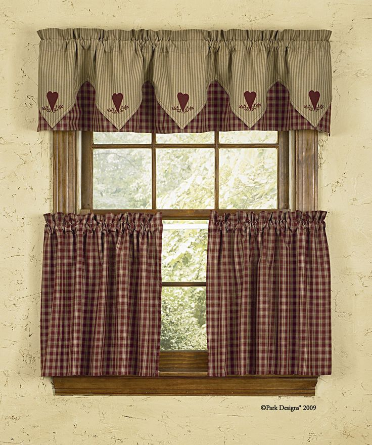 Country kitchen curtain designs
