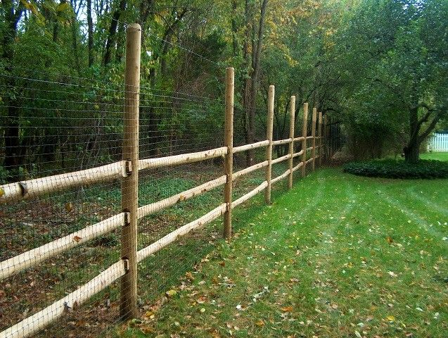 Deer fence post ideas