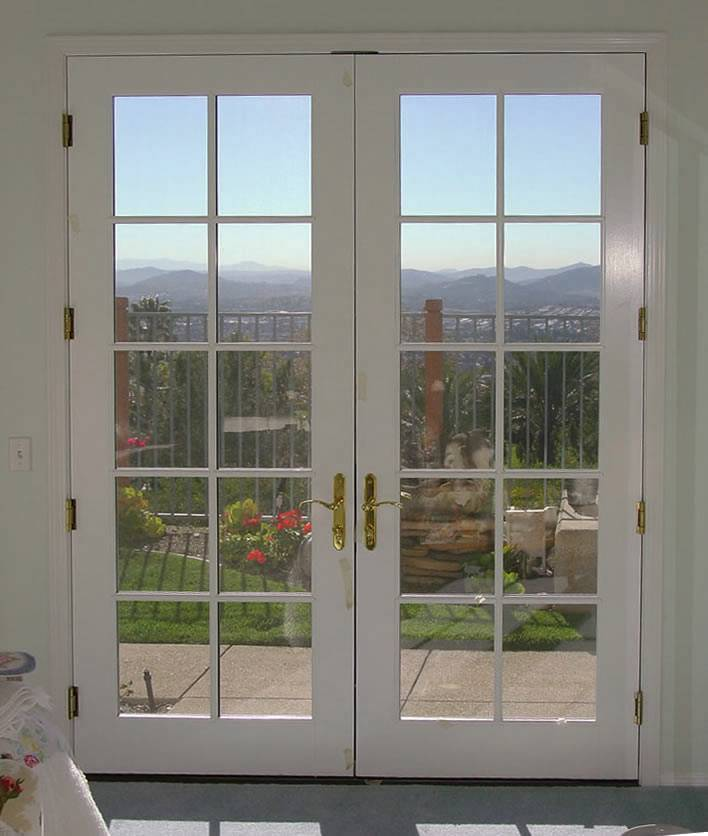 Double french entrance doors