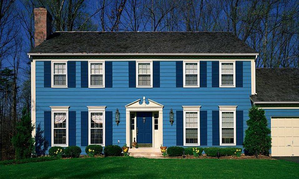 Exterior paint colors blue