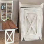 Folding kitchen table diy
