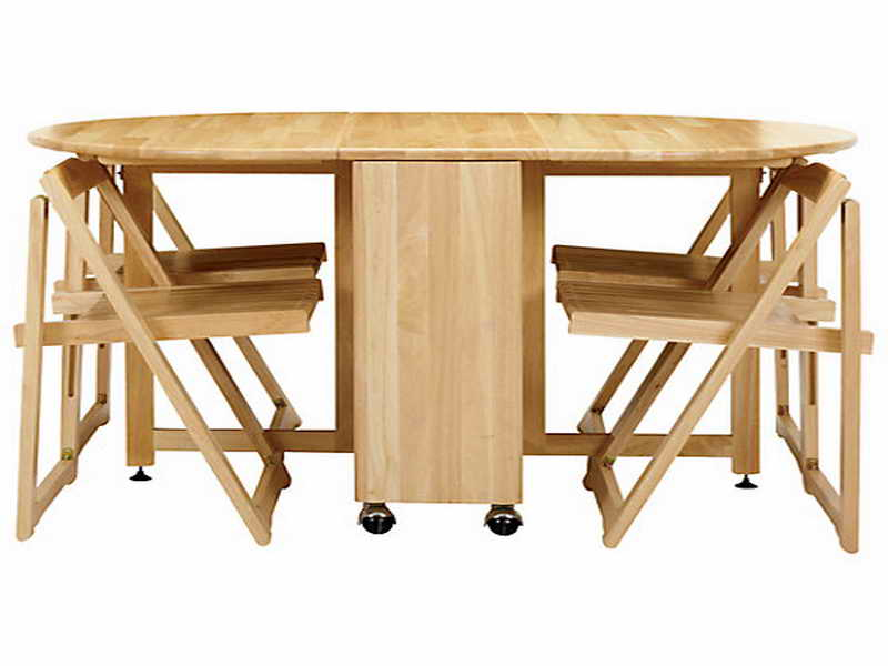 Folding kitchen table sets