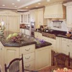 French country kitchen granite