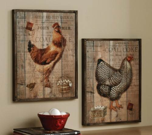 French country kitchen wall decor