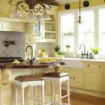 French country kitchen yellow
