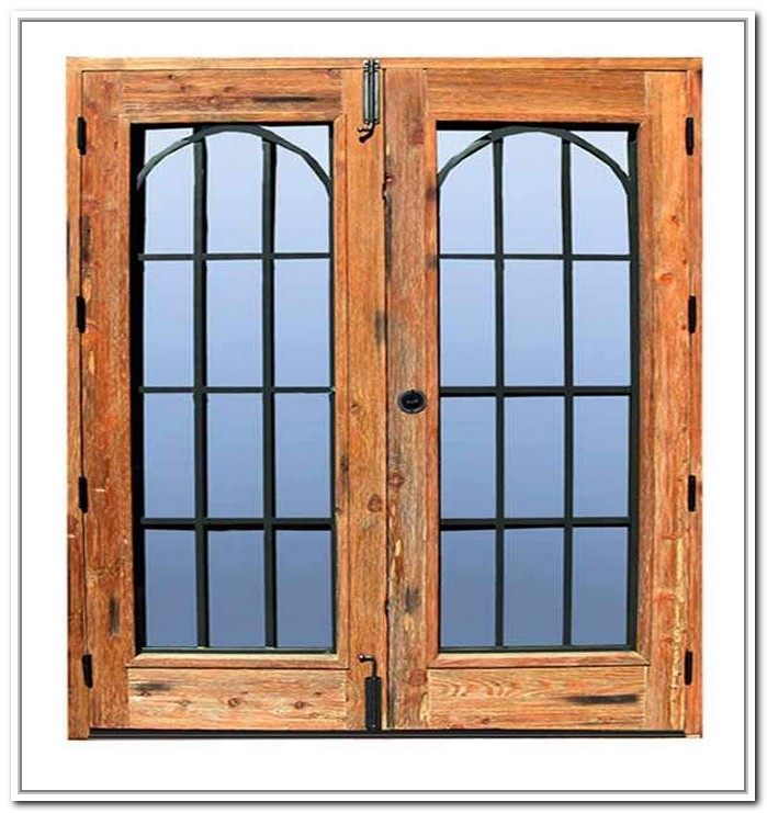French doors exterior wrought iron