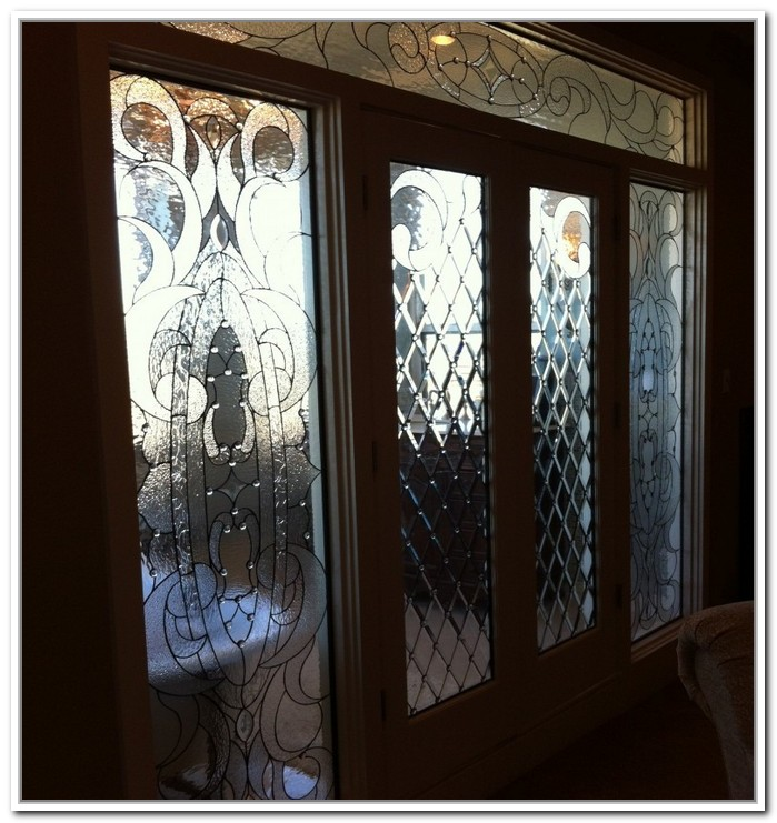 French doors interior beveled glass