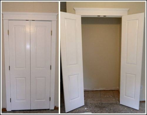 French doors interior closet