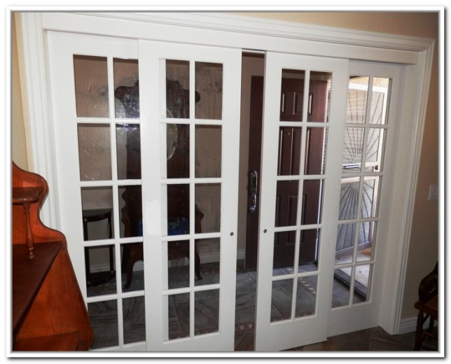 French doors interior glass