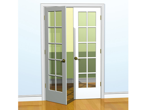 French doors interior sizes