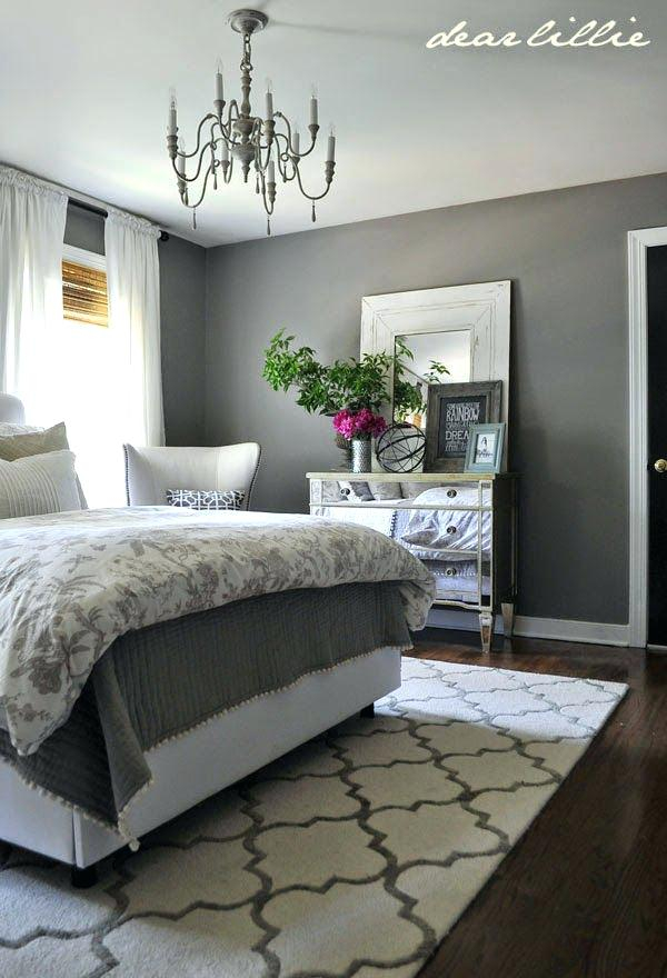 Grey bedroom decorations