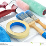 Interior house painting equipment
