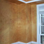 Interior wall paint metallic