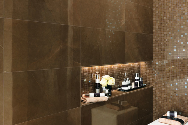 Italian porcelain tile bathroom