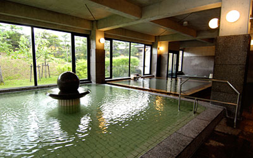 Japanese bath house interior