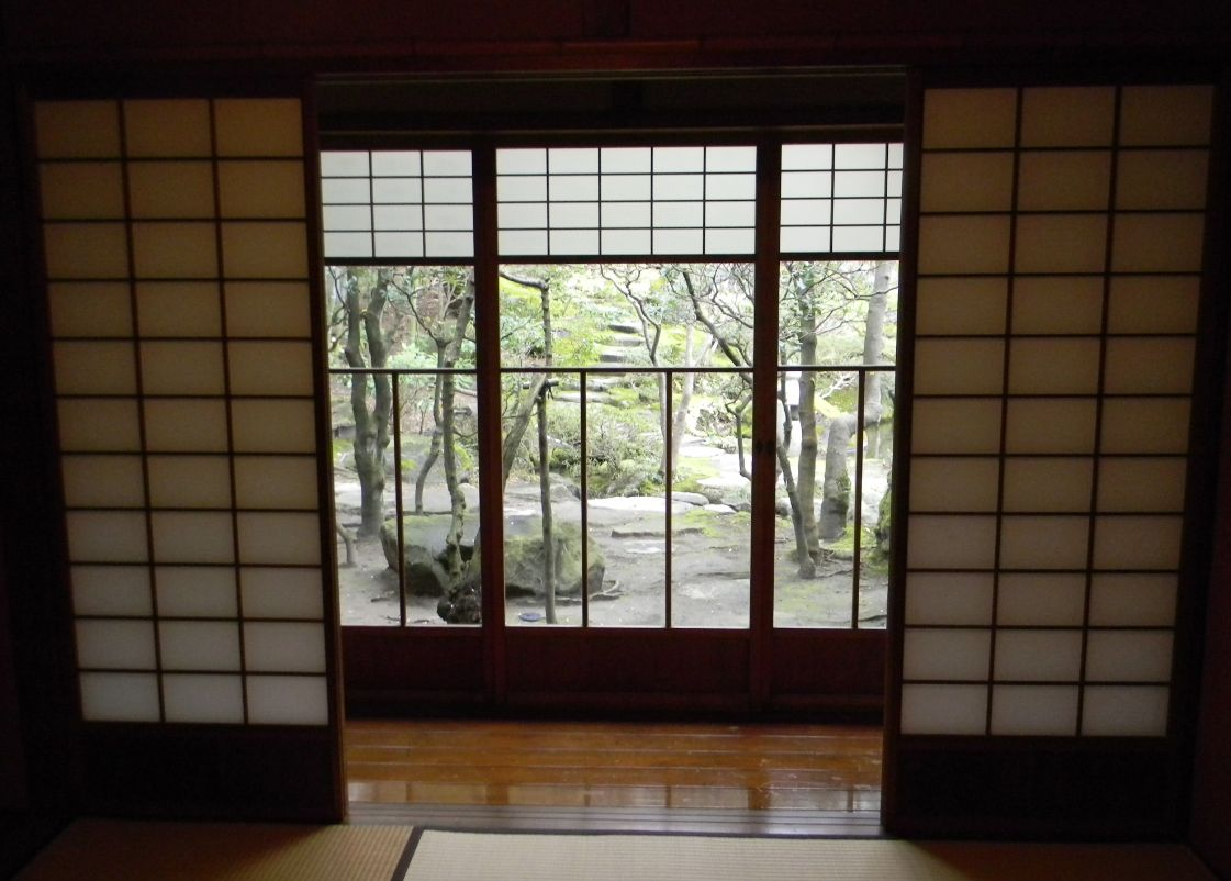 Japanese sliding glass doors