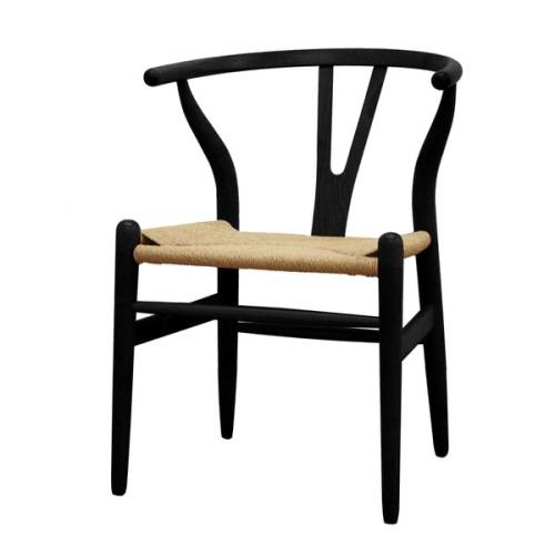 Kitchen chairs black wood