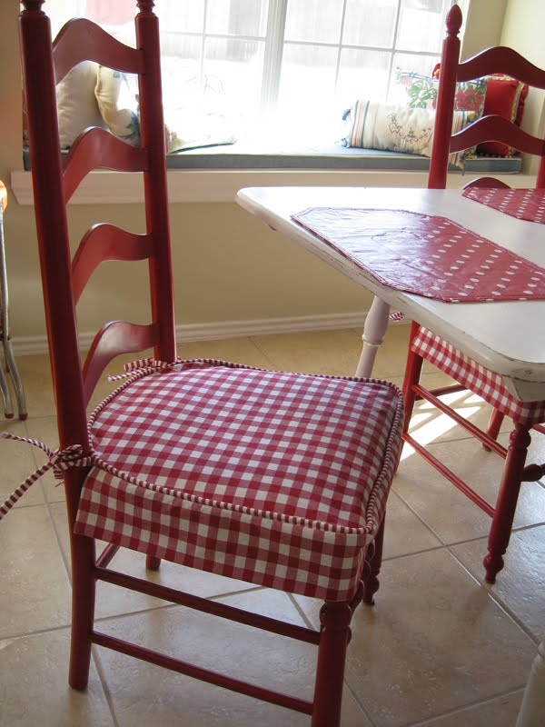 Kitchen chairs seat covers
