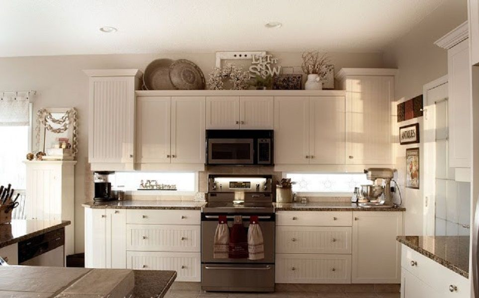 Kitchen decor ideas cabinet tops