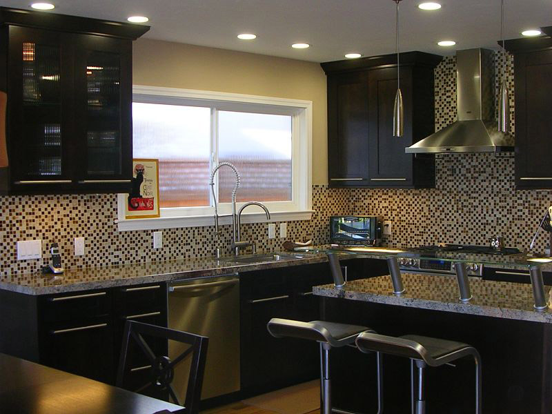 Kitchen design ideas espresso cabinets