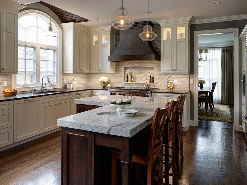 L shaped kitchen with island plans