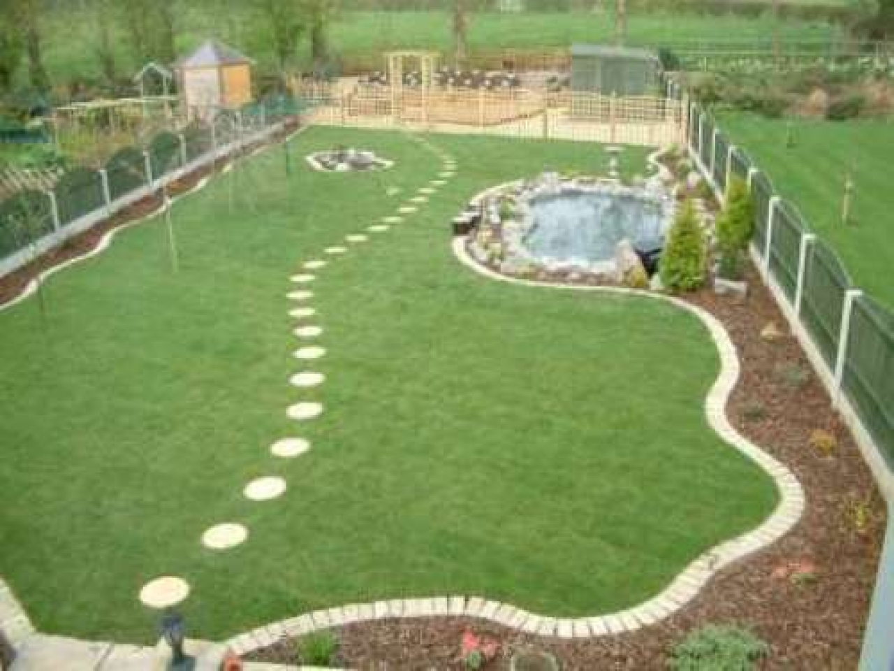 Large garden design pictures