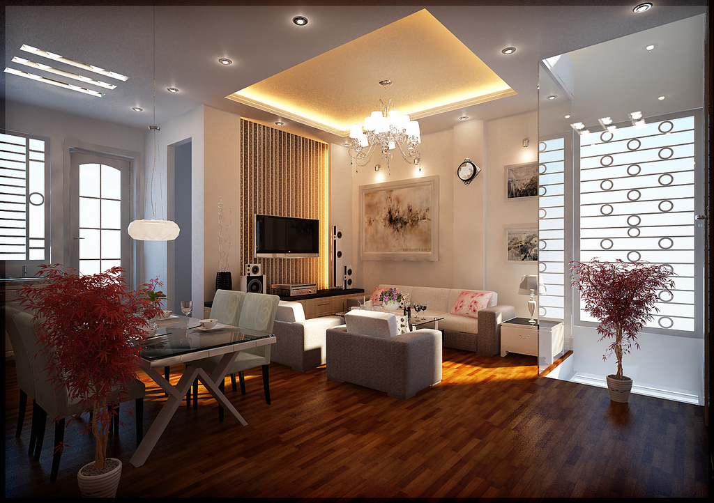 Living room design lighting