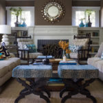 Living room designs blue