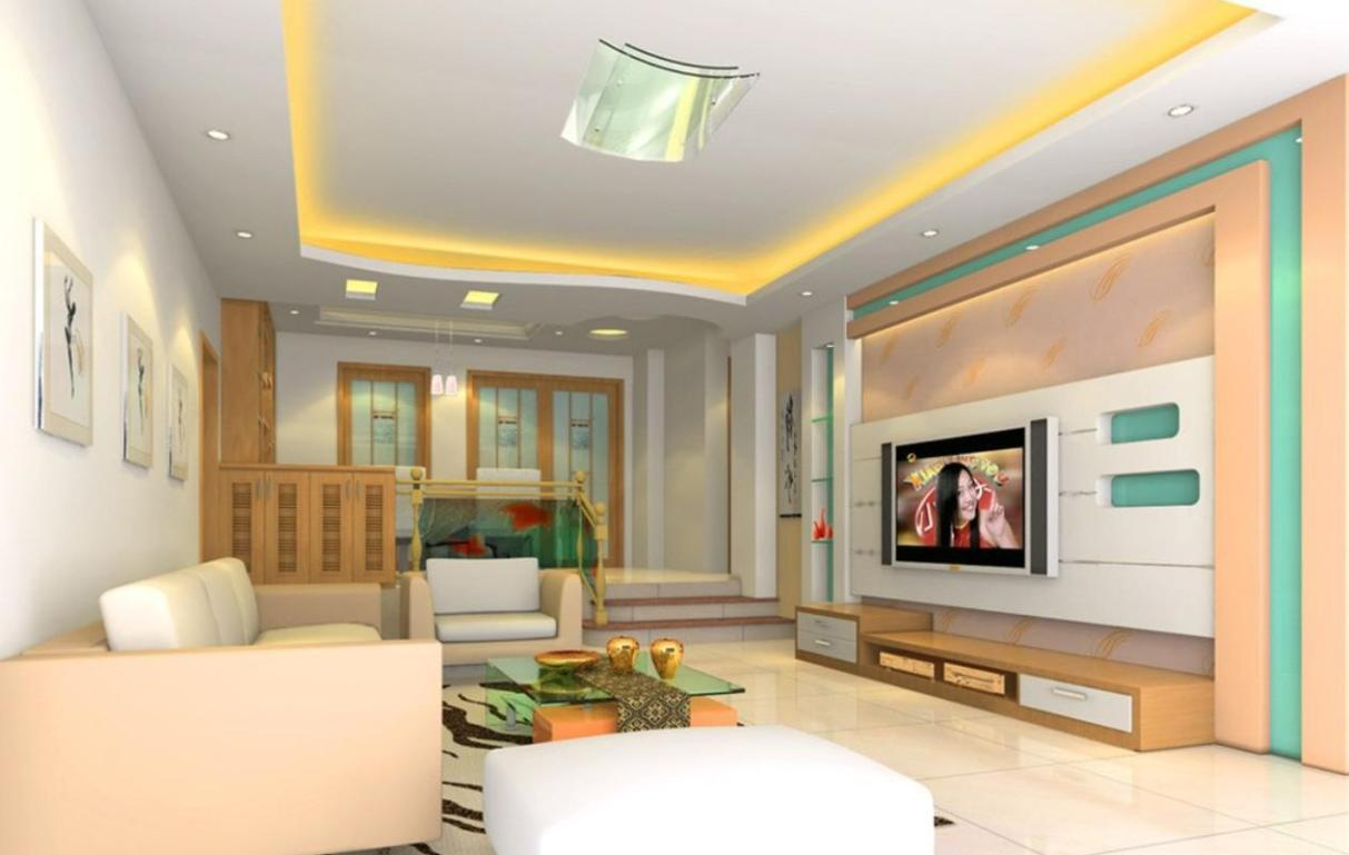 Living room lcd tv wall unit design ideas